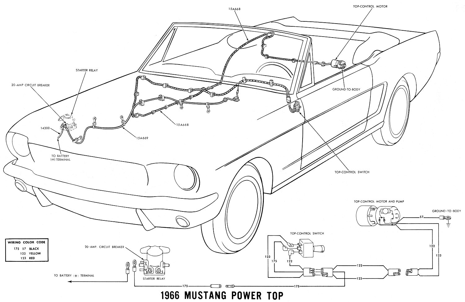 66 mustang coil wiring diagram  | 1500 x 926
